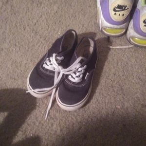 Vans Kids black & white authentic sneakers 9M